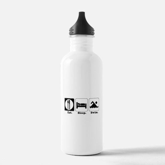 Eat. Sleep. Swim. Water Bottle
