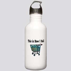 How I Roll (Shopping Cart) Stainless Water Bottle