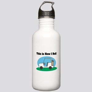 How I Roll (Golf Cart) Stainless Water Bottle 1.0L