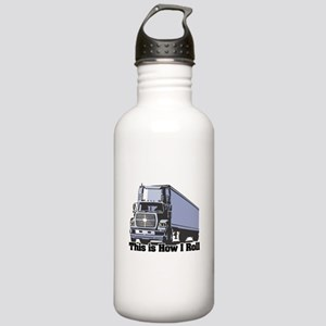 How I Roll (Tractor Trailer) Stainless Water Bottl