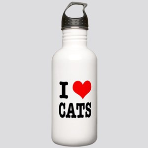 I Heart (Love) Cats Stainless Water Bottle 1.0L