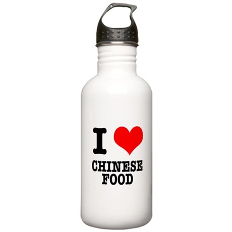 I Heart (Love) Chinese Food Stainless Water Bottle