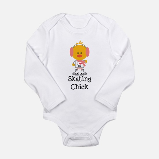 Ice Skating Chick Long Sleeve Infant Bodysuit