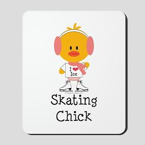 Ice Skating Chick Mousepad