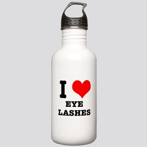 I Heart (Love) Eyelashes Stainless Water Bottle 1.