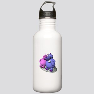 Hippos in Love Stainless Water Bottle 1.0L