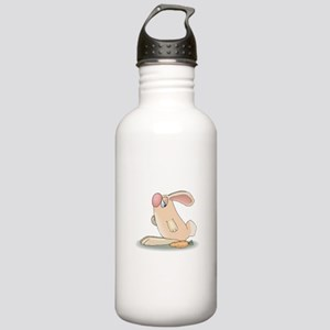 Cute Pink Bunny and Carrot Stainless Water Bottle