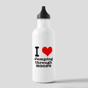 I Heart (Love) Jumping Throug Stainless Water Bott