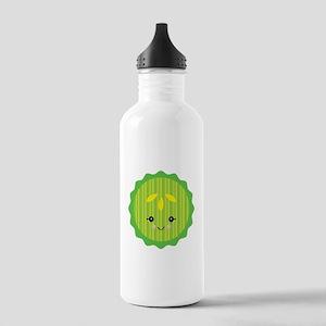 Cute Happy Kawaii Pickle Slic Stainless Water Bott