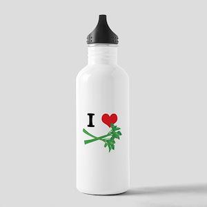 I Heart (Love) Celery Stainless Water Bottle 1.0L