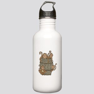 Cute Barrel of Monkeys Stainless Water Bottle 1.0L