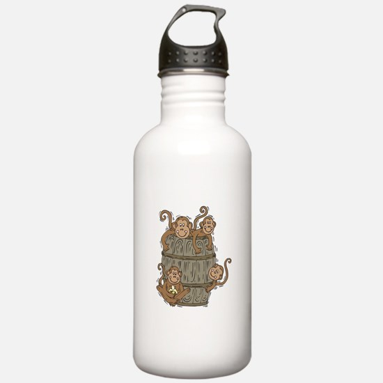 Cute Barrel of Monkeys Water Bottle