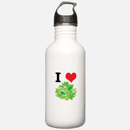 I Heart (Love) Lettuce Water Bottle