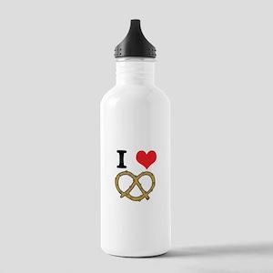 I Heart (Love) Pretzels Stainless Water Bottle 1.0