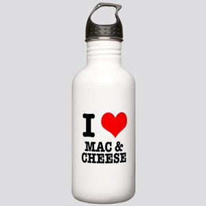 I Heart (Love) Mac & Cheese Stainless Water Bo
