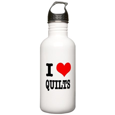 I Heart (Love) Quilts Stainless Water Bottle 1.0L