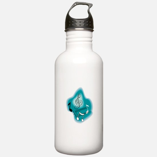 Cool Music Notes Design Water Bottle
