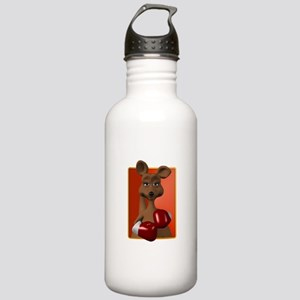 Kangaroo With Boxing Gloves Stainless Water Bottle