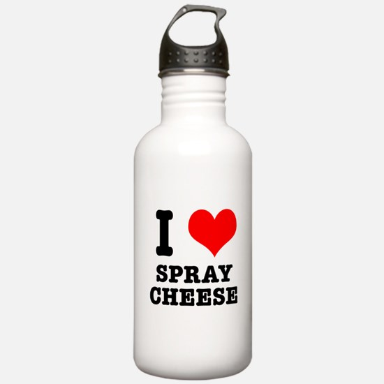 I Heart (Love) Spray Cheese Sports Water Bottle