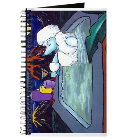 White Pampered Poodle Journal