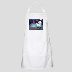 White Pampered Poodle BBQ Apron