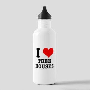 I Heart (Love) Treehouses Stainless Water Bottle 1