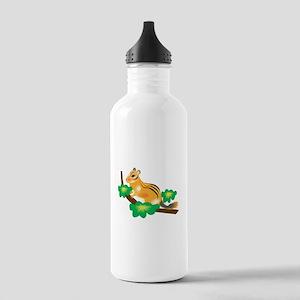 Cute Chipmunk in Tree Stainless Water Bottle 1.0L