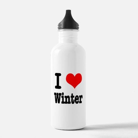 I Heart (Love) Winter Water Bottle