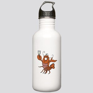 Toasting Wine Lobster Stainless Water Bottle 1.0L
