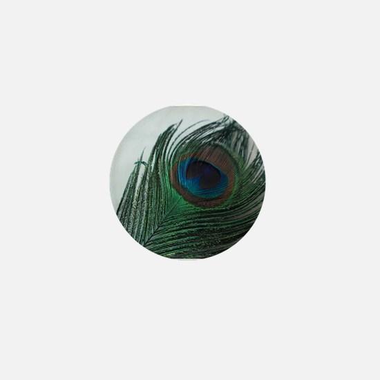 Romantic Peacock Mini Button