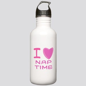 Pink I Heart (Love) Nap Time Stainless Water Bottl