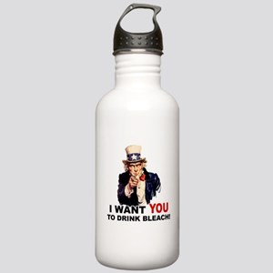 Want You To Drink Bleach Stainless Water Bottle 1.