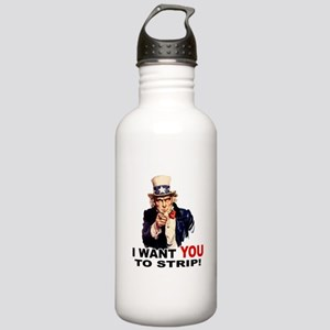 Want You to Strip Stainless Water Bottle 1.0L