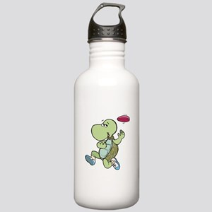 Turtle Playing Frisbee Stainless Water Bottle 1.0L
