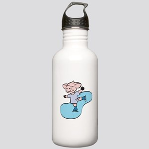 Ice Skating Pig Stainless Water Bottle 1.0L