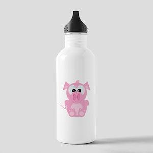 Goofkins Cute Little Piggy Stainless Water Bottle
