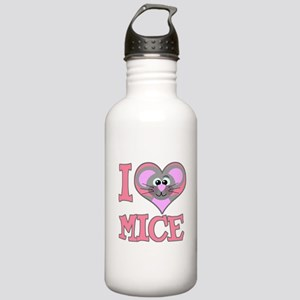 I Love (Heart) Mice Stainless Water Bottle 1.0L
