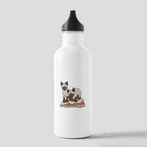 Siamese Kitten Twins Stainless Water Bottle 1.0L