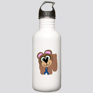 Blue Awareness Ribbon Goofkin Stainless Water Bott