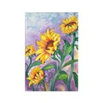 Sunny Sunflowers Watercolor Rectangle Magnet