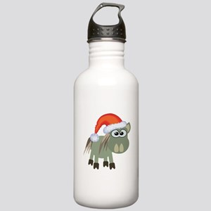Cute Christmas Donkey Santa Stainless Water Bottle