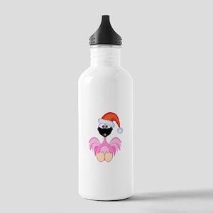 Cute Christmas Santa Flamingo Stainless Water Bott