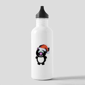 Cute Skunk Santa Claus Stainless Water Bottle 1.0L