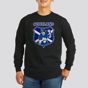 rugby scotland scottish Long Sleeve Dark T-Shirt