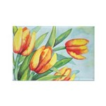 Tulips Watercolor Rectangle Magnet