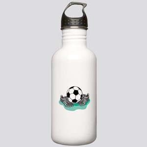 Soccer Ball and Cleats Stainless Water Bottle 1.0L