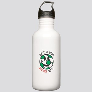 Have a Very Soccer Day Smiley Stainless Water Bott