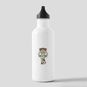Cute Soccer Girl Stainless Water Bottle 1.0L