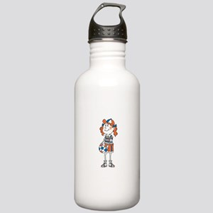 Silly Soccer Girl Stainless Water Bottle 1.0L