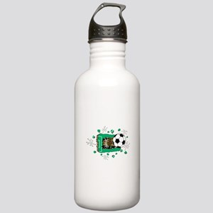 Soccerball Breaking Through Stainless Water Bottle